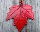 Five Red Maple ornaments, custom listing for Annieya