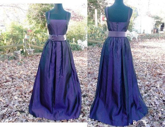 80's Gorgeous Lee Jordan Purple Vintage Evening Gown Estimated Size 4 80s Evening Gown Vintage Prom Dress 80s Prom Dress