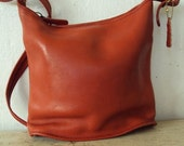 Vintage COACH leather 1970's nyc bag