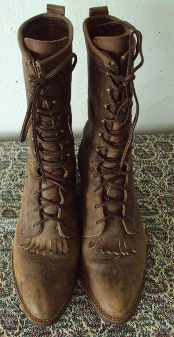 Vintage Leather Granny Boots