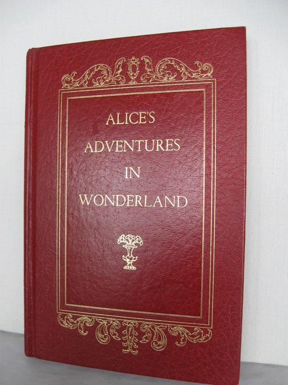 Alice's Adventures in Wonderland Avenel RED and Gold