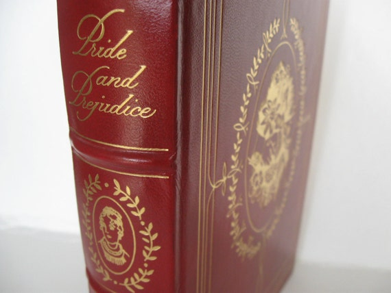 Pride and Prejudice Easton Press LIMITED RED Leather Edition Genuine GOLD Leaf Stamped Cover