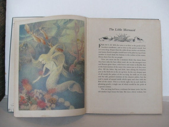 The Little Mermaid Hans Christian Andersen RARE 1939 First Edition Illustrated by Dorothy P. Lathrop