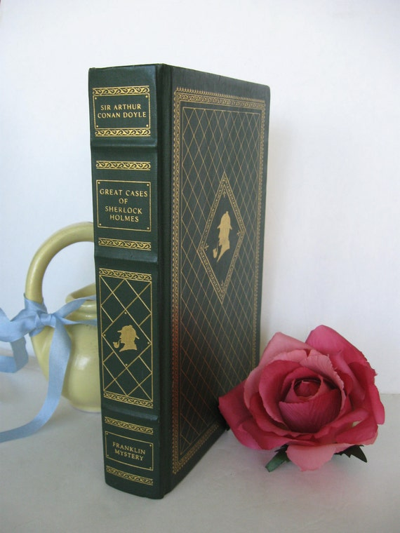 Great Cases of Sherlock Holmes by Sir Arthur Conan Doyle FRANKLIN Library Edition 1987