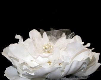 1 White Silk Peony - Bridal