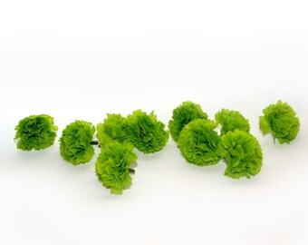 100 Lime Green Baby Carnations - Artificial Flowers - PRE-ORDER
