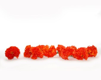 100 Fire Orange Baby Carnations - Artificial Flowers - PRE-ORDER