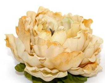 ENORMOUS Banana Cream Pie Silk Peony - Artificial Flowers, Silk Flowers - PRE-ORDER