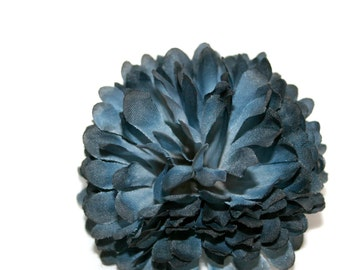 1 Midnight Blue Mum - Artificial Flowers, Silk Flower