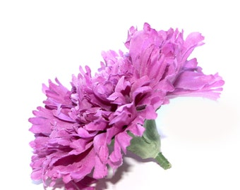 1 Lilac Purple or Violet Silk Carnation - Artificial Flowers, Silk Flower Heads