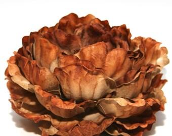 1 ENORMOUS Brown Peony - Artificial Flowers, Silk Flowers - PRE-ORDER