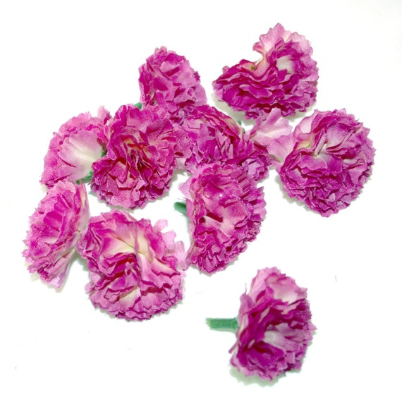 Violet Carnations - 25 Count - Artificial Flowers