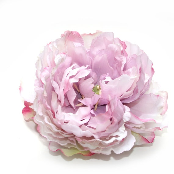 Lilac Cream and Pink Peony - Artificial Flowers, Silk Flower