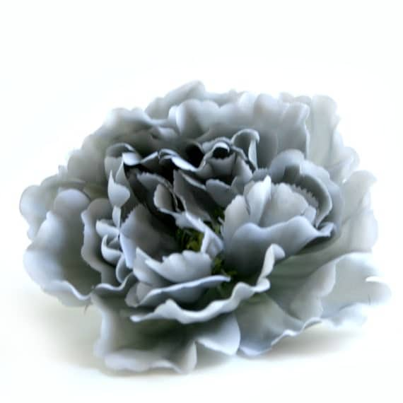 1 Cloud Gray Silk Peony - Artificial Flower, Silk Flower Head