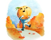 Jack O Lantern Halloween Cards - Set of 5 Illustrated Note Cards - Halloween/Autumn Greetings