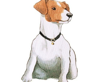 Jack Russell Terrier - Set of 5 Blank Note Cards