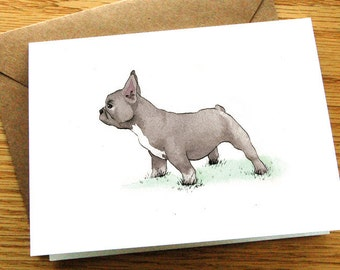 French Bulldogs - 6 Assorted Blank Greeting Cards