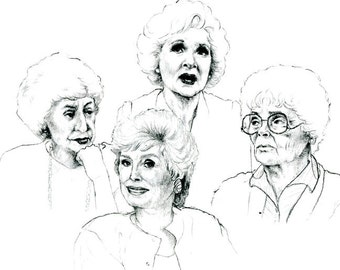 The Golden Girls - 1 Print - Thank You For Being A Friend - 8.5 X 11