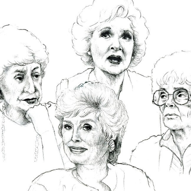 The Golden Girls Greeting Cards Set Of 5 Illustrated Cards