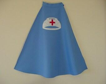 Child's Nurse Cape Nurse Costume Girl's Nurses Cape Nurse Cape for Girl Nurse Cape Costume for children