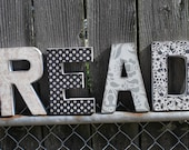 READ 8 inch decoupage letter set-Ready to SHIP