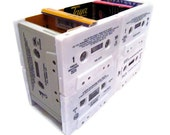 Jacksons - Rob Base - Jets - Desk Organizer from Upcycled 80's and 90's R&B / Pop Cassette Tapes