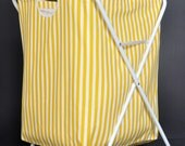 Yellow Stripe Laundry Bag with Stand