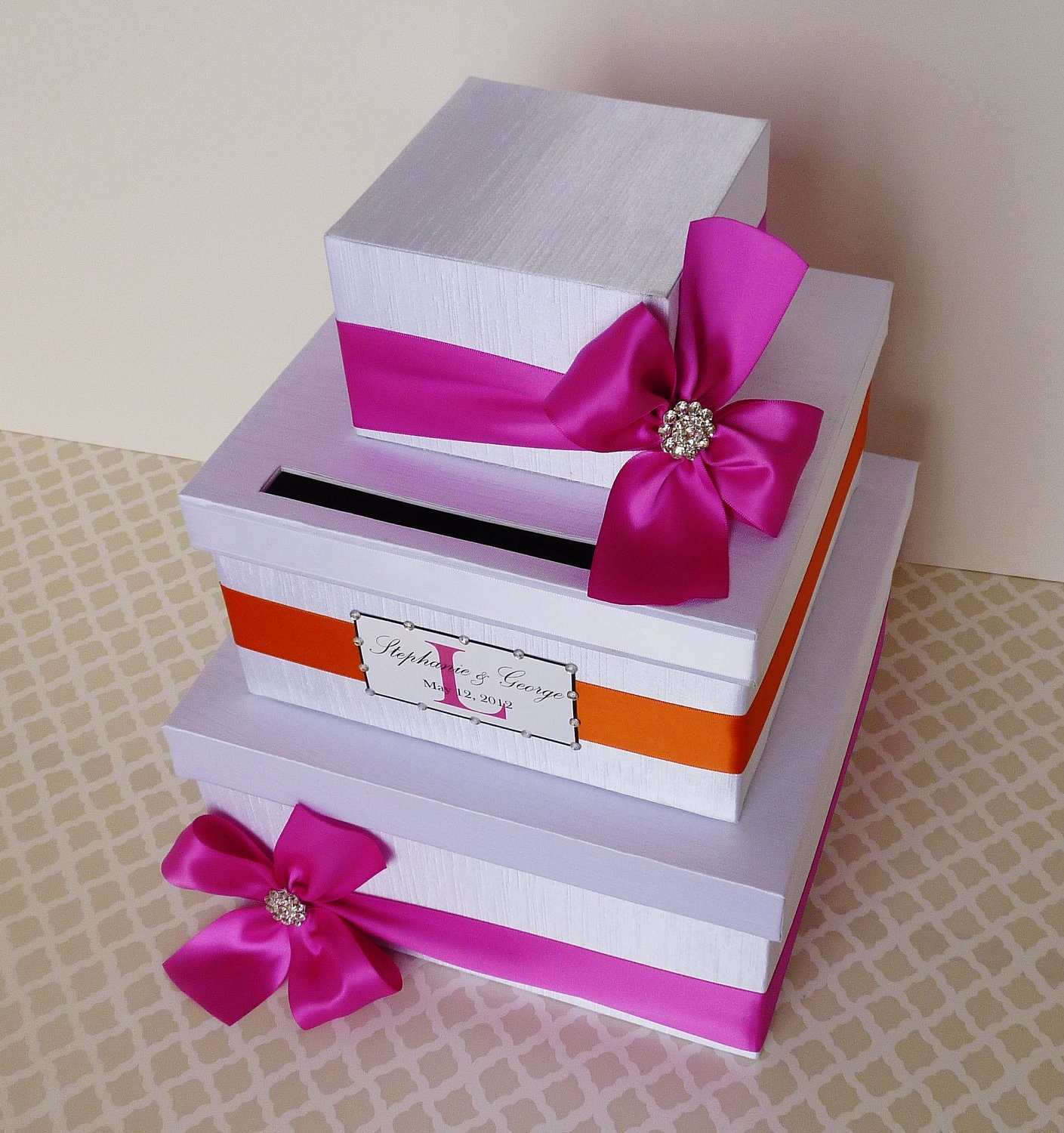 Wedding Money Box: Items Similar To Wedding Card Box Money Holder Fuchsia