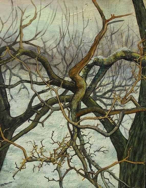 Original Oil Painting - Dormant Branches