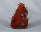 Cabochon Red Flame Agate Designer shape rock cabochon hand cut and polished