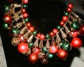 Unique  Vintage bracelet and earring set