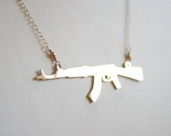 Gold AK-74