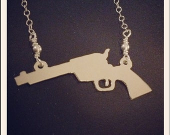 Silver Revolver Necklace