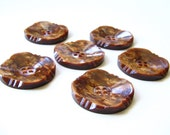 Vintage Buttons - Set of Six
