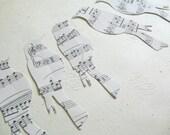 Vintage Sheet Music Die Cuts - Songbirds - Music Paper Bird Shape Cut Outs - Bird Die Cut - Music Lover Bird Paper Shapes - Card Topper