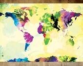 One Colourful World (yellow version) - 13x19 Art Print