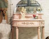 Shabby Pink Painted Cottage Vanity VAN216