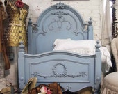 Painted Cottage Shabby Periwinkle Romance Bed