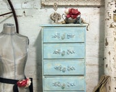 Painted Cottage Romantic Aqua Chic Night Table NT23