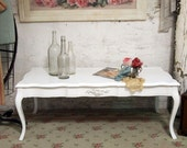 RESERVE MIKYONG Painted Cottage Chic Shabby White French Coffee Table CFT216