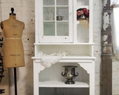 Painted Cottage Chic Shabby White Romantic French Farmhouse Cabinet CC327