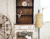 Painted Cottage Chic Shabby French Farmhouse China Cabinet / Hutch CC330