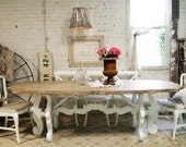 Painted Cottage Chic Shabby Farmhouse DIning Table TBL243