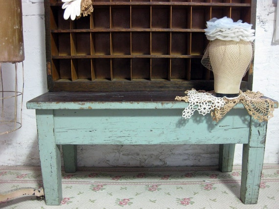 RESERVED FOR CINDY Antique Farm House One Of A Kind Post Office Mail Sorter Call Box Original Paint Finish  VF103