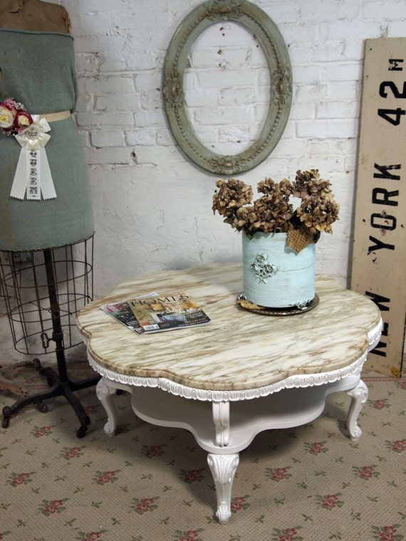 Vintage Painted Cottage Chic Shabby White French Provincial