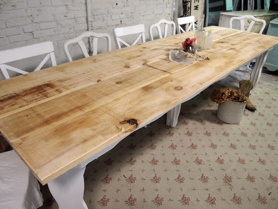Items similar to painted cottage handmade farmhouse table for Dining room tables etsy
