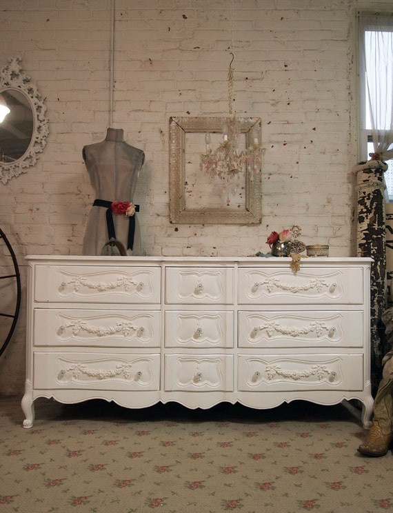 Painted Cottage Romantic French Dresser DR 274