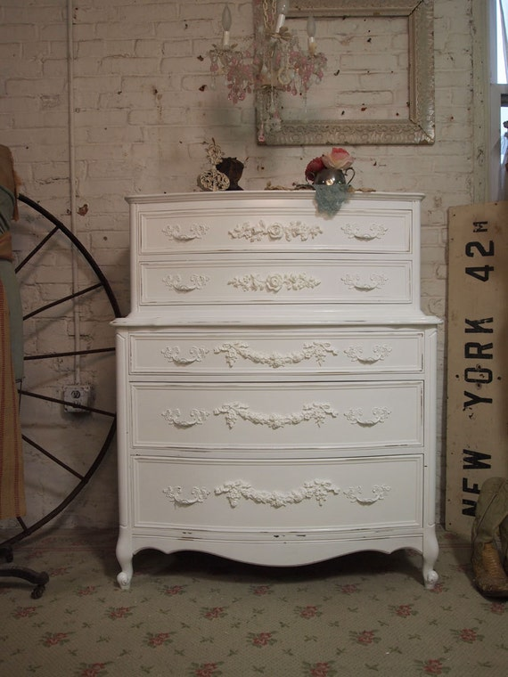 RESERVESHERRIPainted Cottage Romantic French Dresser CH263