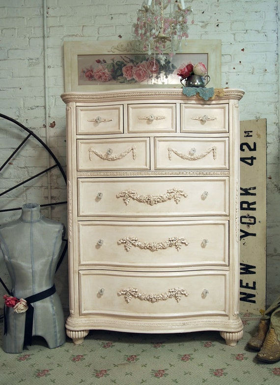 Painted Cottage Shabby Pink Romance Dresser