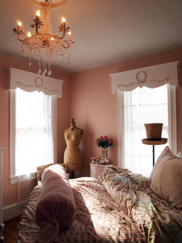 Painted Cottage Chic Shabby Handmade Window Valance Shelf